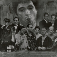 Gangsters Collage Godfather Goodfellas Scarface Sopranos Movie Poster Print Print at AllPosters.com