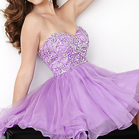 Strapless Sweetheart Homecoming Dress by Hannah S