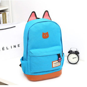 Hot Deal Comfort College Back To School Stylish On Sale Casual Cats Korean Canvas Backpack [6580920711]
