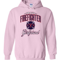 Proud Firefighter Girlfriend Hoodie