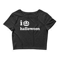 I Heart Halloween Women's Crop Tee