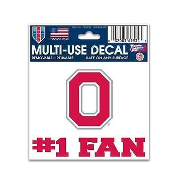 Licensed Ohio State Buckeyes Official NCAA Car Window Cling Decal by Wincraft 695345 KO_19_1