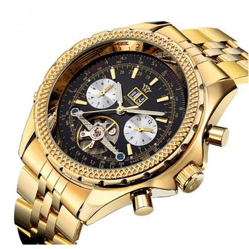 2017 Swiss Automatic Mechanical Tourbillon Brand Watches Gold Watches Men's Luxury Watches