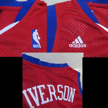 Allen Iverson 3 Philadelphia Sixers 76ers Super Rare New Throwback NBA Jersey Iverson Basketball Jersey All Stitched and Sewn Any Size S-XXL