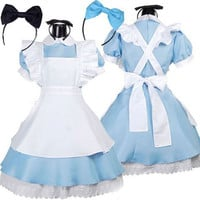 Alice in Wonderland Cosplay Halloween Costumes for Women