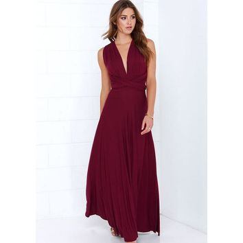 Sexy Women Party Maxi Dress Bandage Long Dress Sexy Multiway  Convertible Wrap Dress Robe