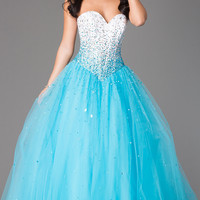 Mori Lee Strapless Ball Gown