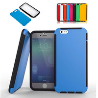 "2 in 1 Silicone PC Hybrid Back Case Cover Skin with Screen Protector for 4.7"" Apple iPhone 6 = 1845643524"