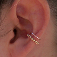 Beaded Double Conch Ear Cuff