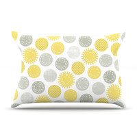 "Heidi Jennings ""Sunspot"" Yellow Spots Pillow Case"