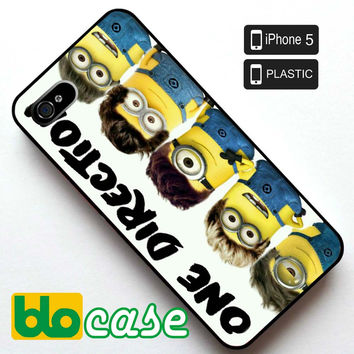 One Direction Minion Iphone 5 Plastic Case