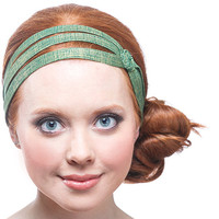green headband, sparkle headband, cute headbands, green hair accessories, great gift ideas for women