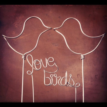 """Love Birds"" Wedding Cake Topper"