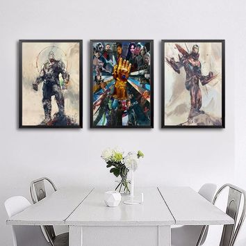 Avengers Infinity War TV Movie Poster Wall Art Wall Decor Silk Prints Art Poster Paintings For Living Room