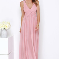 Strike a Minerva Dusty Pink Maxi Dress