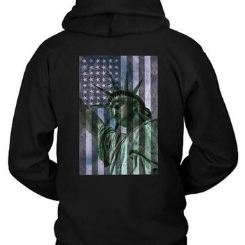 LMF1GW Liberty Flag Hoodie Two Sided