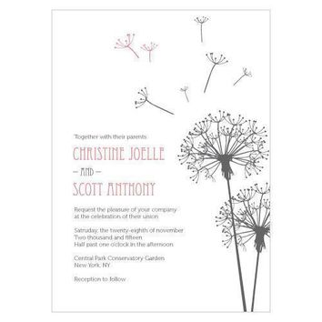 Dandelion Wishes Invitation Berry (Pack of 1)
