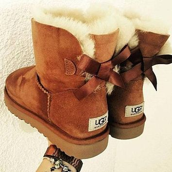 UGG Women male Fashion Wool Snow Boots-5