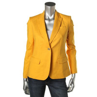 Vince Camuto Womens Petites Woven Stretch One-Button Blazer