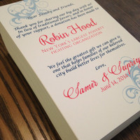 Donation Favor Cards for Event Reception // In Lieu of // Printed // Personalized for Any Event