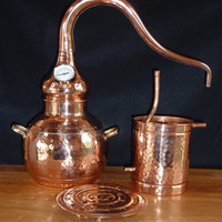 Home Garden Sized Copper Alembic Still 3 Liter