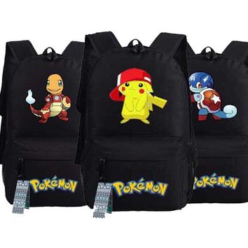 New Game  Go Squirtle Backpack oxford  Pocket Monster Pikachu Gengar Schoolbags Fashion Unisex Travel Laptop BagKawaii Pokemon go  AT_89_9