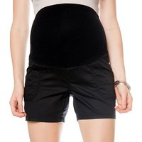 Oh Baby by Motherhood Secret Fit Belly Twill Shorts - Maternity, Size: