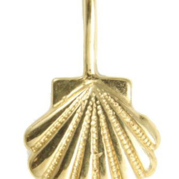 9.75MM SOLID 14K YELLOW GOLD HAWAIIAN SEA SUNRISE SHELL PENDENT CHARM