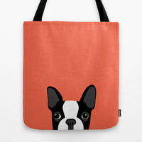 Boston Terrier Tote Bag by Anne Was Here