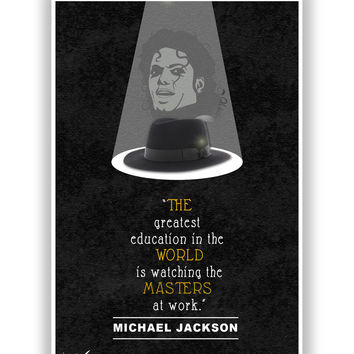 Greatest Education by Michael Jackson Poster
