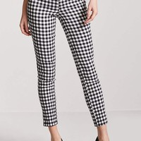 High-Rise Gingham Pants