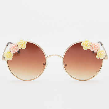 Bandit Floral Sunglasses - Gold