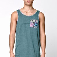 On The Byas Micah Pieced Pocket Tank Top - Mens Tee - Green