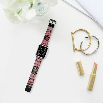 Bloom peach and black Apple Watch Band (38mm) by Heaven Seven | Casetify