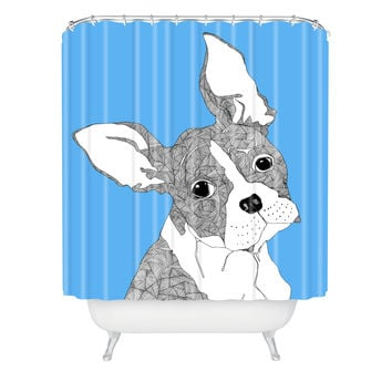 Casey Rogers Frenchy Shower Curtain