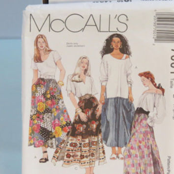 McCall's 1 hour skirt sewing pattern 7001 women's Skirts size L XL