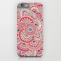 Coral, Peach & Magenta Wonderland iPhone & iPod Case by Sarah Oelerich