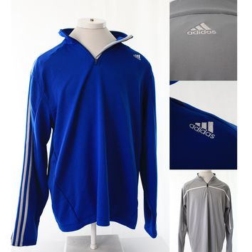 Adidas Mens Long Sleeve Sweatshirt 1/4 Zip sweater Size XL Extra Large