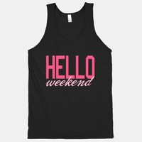 Hello Weekend (Tank) (Dark) | HUMAN