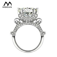 MDEAN Wedding Rings for Women White Gold Color  women rings Engagement wedding AAA Zircon Jewelry Bijoux ring Size 6 7 8 MSR289