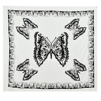 White  Black Butterfly Wall Tapestry, Indian Hippie Tapestry Bedding on RoyalFurnish.com