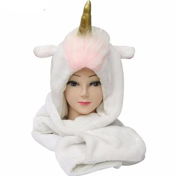 Plush Unicorn Winter Hat