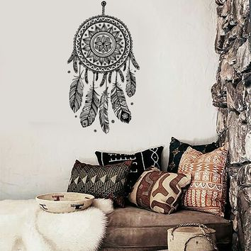 Vinyl Decal Wall Dreamcatcher Web Plumage Charm Bedroom Art Sticker Unique Gift (ed130)
