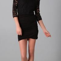 Velvet Cass Long Sleeve Lace Dress