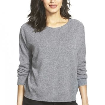 Women's Eileen Fisher Boxy Bateau Neck Cashmere Sweater,