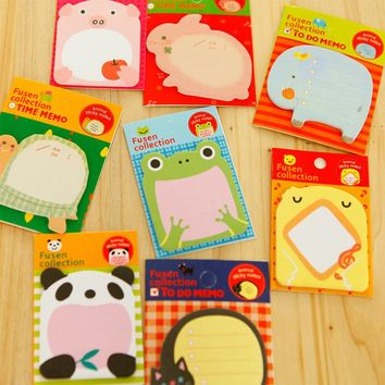 Creative Stationery Forest Animal Paradise Series Cute Paper Memo Pad Sticker Post Sticky Notes Notepad School Office Supplies