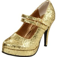 Ellie Shoes Women`s 421-Jane-G Pump,Gold Glitter,9 M US