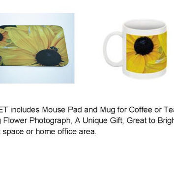 SET Mouse Pad and Mug, Unique Gift Idea, Office Gift, Colorful Photograph, One-of-a-kind Gift, Desk Set