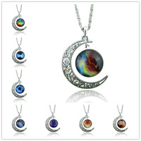 The Stars The Moon Time Diamond Necklace