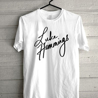 luke hemming , 5 SOS, 5 second of summer Screen print Funny shirt for t shirt mens and t shirt girl size s, m, l, xl, xxl